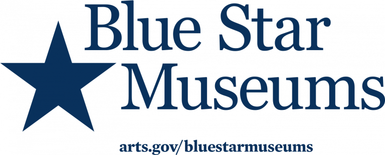Blue Start Museums logo, which Strawberry Mansion is a member of